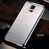 novo estojo rígido de metal alumínio venda por atacado-Atacado-New Arrival escovado alumínio Hard Case para Samsung Galaxy S5 i9600 telefone luxo Metal tampa traseira Drop Ship