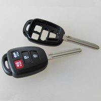 Wholesale Toyota Camry Key Buttons - High quality car key blank for toyota 4 button replacement remote key shell FOB key cover free shipping