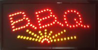 "Wholesale Bbq Signs - 2016 Animated BBQ LED Sign 19"" x 10"" LED Business Light Sign of LED Free Shipping"