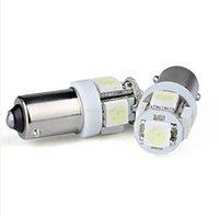ingrosso lampadina h6w-Lampada angolare Xenon White 5 SMD 5050 Lampadine a LED BA9s a 360 gradi 1895 H6W BA9S-5SMD-5050