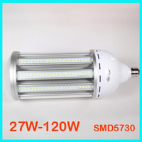 Wholesale Nature Workshop - New Arrival LED Corn Bulb Light E27 E40 27W 36W 45W 54W 80W 100W 120W SMD5730 Workshop Replacement 400W CFL HPS Metal Halide Lamp by DHL