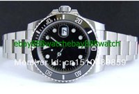 Wholesale Low Price Automatic Watch Brands - lowest price brand watches Top quality Luxury Box Ceramic sapphire 16610 Black Dial Stainless Steel Automatic Mens Men's Watch Watches