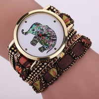 Hot Elephant Quartz Gold Fashion Bracelet Montre Femme Montre Luxe Bracelet en érable Bracelet Montre bracelet XR1644