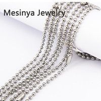 Wholesale Stainless Ball Chains - 10pcs 2.4mm width 24inch 316L stainless steel ball chain necklace for floating glass locket essential oils diffuser locket