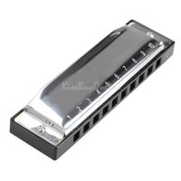 Wholesale Order Harmonicas - New Silver Metal 10 Holes Harmonica C Key Mouth Organ Children Gift Toys NIVE order<$18no track