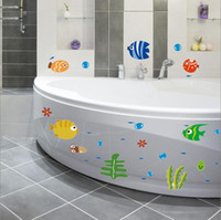 Diy dibujos animados 24 * 42 cm Fish Bubble Vinilo niños extraíbles habitación infantil Nursery pegatinas de pared Poster Decal Mural Home Decor XY3001