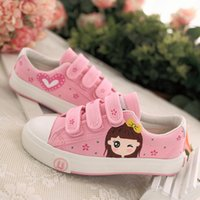 Wholesale Kind Baby Shoe - Wholesale-CartoonHand Painted Shoes Comfortable Kinder Schuhe Tie In Fashion Baby Concise Sneakers New CartoonHand Painted Shoes