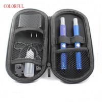 ingrosso smettere di fumare-Doppio kit di starter elettronico per sigaretta EVod MT3 Kit con batteria ricaricabile Mt3 Atomizer 650mAh 900mah 1100mah YA0820
