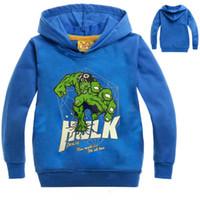 Wholesale Kids Jacket Animal Hoodie - 2017 Spring Autumn Boys Hoodies and Sweatshirt Captain America Coat Hulk hoodie in boy Clothing Long Sleeves Hooded Kids