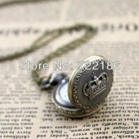 Wholesale Cheapest Digital Watches - 2014 Wholesale Jewelry Cheapest Vintage Aulic Elegant Pocket Watch for Men and Women watch necklace