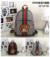 Wholesale Famous Backpack Brands - Fashion Backpack Men Women Leather Bags Famous Brand Designer Back Packs Bag Embroidered Backpacks Ladies Bags g88 Cheap Sale