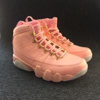 ingrosso vivido rosa-Ingrosso con scatola 9 GS Vivid Rosa bianco Donna Scarpe da basket 9s Ragazza Sport sneakers da allenamento di alta qualità formato esterno 36-40