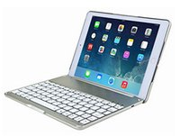Wholesale Ipad Mini Aluminium Case - Wireless Bluetooth Keyboard Ultra Slim Aluminium Folio Wireless Bluetooth Keyboard Carrying Stand Case Cover for Apple iPad Air 2 F8S