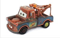 Wholesale Tow Mater Diecast Car - 2015 Pixar Cars 2 tow Mater 1:55 Scale Diecast Metal Alloy Modle car Brio Tow Mater Race Team Diecast Metal Car Toy For Children A551X