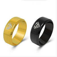 Wholesale Dropshipping Ring - High Quality Classic Superman Ring For Men Women 316L Stainless Steel Ring Free Shipping Hot Fashion Great Gift Dropshipping R536