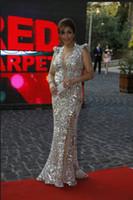 ingrosso oscars vestito sequin-Sparkly moda abiti da sera sirena per le donne Oscar abito formale abito da sposa sfilata sfilata paillettes Bling Bling abito da sera formale partito