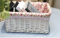 Wholesale Rustic Rattan - Liubian rustic rattan storage basket Large white knitted basket storage baskets storage box storage basket customize