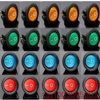 Wholesale Led Rocker Dot Toggle Switch - 20PCS Blue Green Red yellow to choose Led Dot Light 12V Car Boat Round Rocker ON OFF Toggle SPST Switch Control