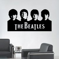 Wholesale Beatles Decals - Beatles Wall Art Decals Vinyl Wall Stickers Home Decor 29X57CM