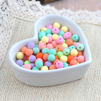 Wholesale Rubber Spacer Beads - Wholesale-8mm 200pcs Mixed Acrylic Ball Beads,New Rubber Spacer Round beads For jewelry making XLL2015-8