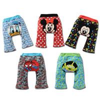 Wholesale Cheapest Diaper Wholesaler - Wholesale-Cheapest Shrek Baby PP Pants Cartoon Children's Trouser Diaper Cover Baby Clothing Pants Babywear Newborn PP Warmers Tights