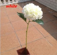 Wholesale Hydrangea Fabric Flowers - 2015 New Arrival European Pastoral Style Artificial Silk Flower Fabric Hydrangea Bouquet For Wedding Party Decorations