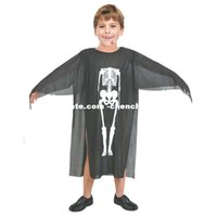 Wholesale skeleton costume child - Creative Toy Cosplay Party decoration Halloween Masquerade costume dress clothes skull skeleton ghost clothes clothing Children Horror