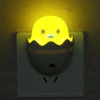 ламповая утка оптовых-Мультфильм ночник энергосбережение оптически контролируемые индукционные огни пластиковые маленькая желтая утка форма светодиодные прочный 1 5sy B