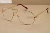 eye glasses frames for men 1038366 Full frame metal Eyeglasses oculos de grau masculino Frame Size: 59-12-140mm silver gold metal frame