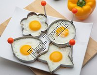 Wholesale Stainless Steel Egg Ring - Stainless Steel Flower Heart Star Circle-shaped Fried Egg Device Ring Circle Mold Omelette Pancake Kitchen Tool 00741