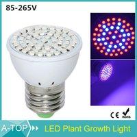 Wholesale Smd 3528 Growing Plants - Wholesale-E27 3528 SMD Epistar 60Leds Growth LED Light 110 V 220V 7W Full Spectrum Plant Grow Light For Flower Plant Hydroponics System