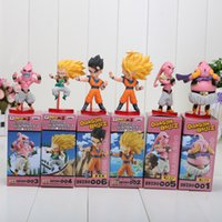 Wholesale Dragon Ball Z Goku Figure - 6pcs set Dragon Ball Z Majin Buu Gotenks Saiyan Son Goku PVC Action Figures Collectible Toys