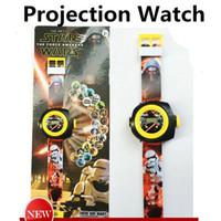 Wholesale Star Wars Watches - fashion Star Wars Frozen Wristwatches 3D cartoon Watches Projection watch children gifts Christmas gifts for children Fashion child Watches