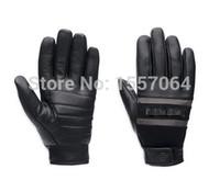 Wholesale Black Fingerless Biker Gloves - Wholesale-Men Motorcycling Biker Cycling Leather Glove Full Finger Men glove 98251 Free Shipping