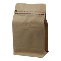 Wholesale kraft paper zipper top bags - 30Pcs Lot Packaging Coffee Bags With Valve Zipper Stand Up Open Top Heat Seal Kraft Paper Aluminum Foil Composite Pack Pouch