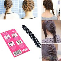 инструмент для завивки волос оптовых-Мода волос плетение Плетельной инструмент ролик с магия волос Twist Styling Бун Maker 1N3L