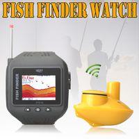 "Wholesale Waterproof Fishing Watches - 5pcs lot Wholesale Waterproof 1.77"" Colorful Digital Watch Type 200 Feet (60Meters) Range Wireless & Clock Mode Watch mini Fish finder"