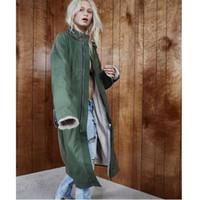 Wholesale long wool jackets women - Fear Of God Jacket Men Women 1 High Quality Fear Of God Amy Green Lamb Wool Coat Windbreaker Fear Of God Jacket