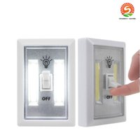 Wholesale Mini Led Cabinet Lights - Magnetic Mini COB LED Cordless Light Switch Wall Night Lights Battery Operated Kitchen Cabinet Garage Closet Camp Emergency Lamp