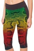 black milk snake - HOT Women Black Milk Snake Printed Pants Summer Sport Stretch Cropped Trousers Pocket Mid Calf Leggings S XL LC1029