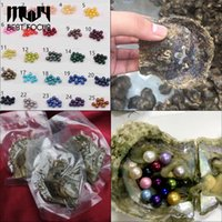 Wholesale Vacuum Packing - MLJY Natural Pearl 6-7MM Round Pearl in Oysters Akoya Oyster Shell with Colouful Pearls Jewelry By Vacuum Packed 50 Pcs lot