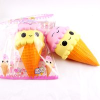 Wholesale Icing Dolls - Cute PU simulation Large Squishy Ice Cream Slow Rising Relieve Stress Toy Gift Doll Slow Rising Stress Toys for Children Adult