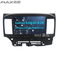 Wholesale mitsubishi maps - Quad Core 2G RAM+16G ROM Android 6.0 1024*600 Car DVD Player for Mitsubishi Lancer with Radio RDS GPS free map BT