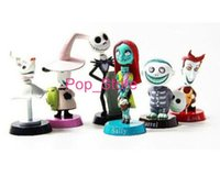 Wholesale Nightmare Before Christmas Figures Set - wholesale high quality (6pcs set) 5-7cm Anime Nightmare Before Christmas Jack PVC doll Action Figures Toy for kids 100 sets  lot