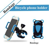 Bike Bicycle Phone Holder Mount Stand com Silicone Bandage Antiskid Retail Package para iPhone 8 para Samsung Note 4
