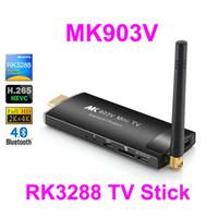 Wholesale Android Stick Dual Core - 5pcs MK903V RK3288 Quad Core Android TV Box TV Stick 4K Media player 2GB 8GB 2.4G 5G Dual WIFI H.265 Bluetooth V4.0 Android 4.4 Kitkat