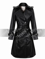 black sheep products - Women s Christmas jacket product outfit black dress coat long sheep leather trench New women coat locomotive warm fur Long