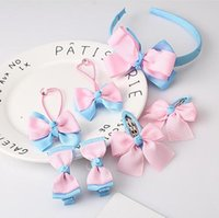 1 Set Farfalla Baby Girl Clip di capelli bowknot Hairpin Toddler Bambini Accessori per capelli Headwear Hair Hoop