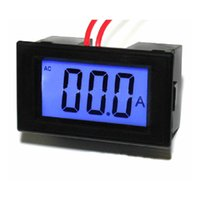 Wholesale Electrical Power Supply - AC 0-50A Digital Ammeter Current Amp Ampere Panel Gauge Meter Power Supply 220V AC LCD Display Free Shipping