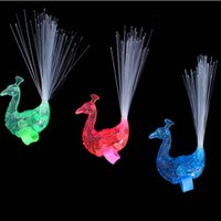 LED blinkt Peacock Fiber Optic Finger Lichter Ringe für Raves oder Party gefallen